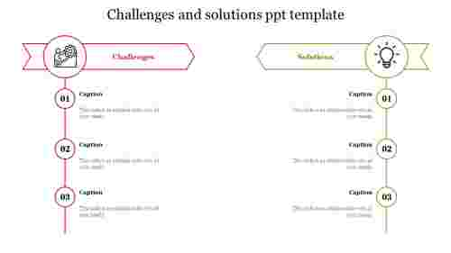 challenges and solutions ppt template