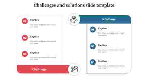 challenges and solutions slide template