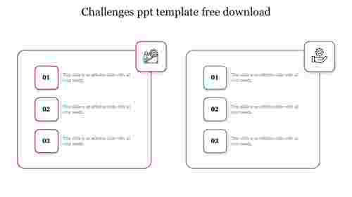 challenges ppt template free download