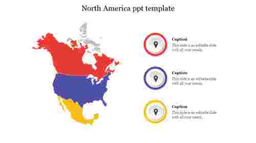 North America ppt template