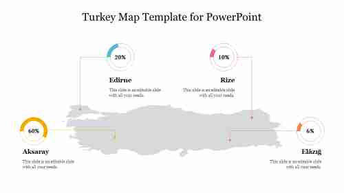 Turkey Map Template for PowerPoint