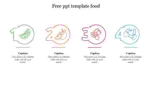 free ppt template food