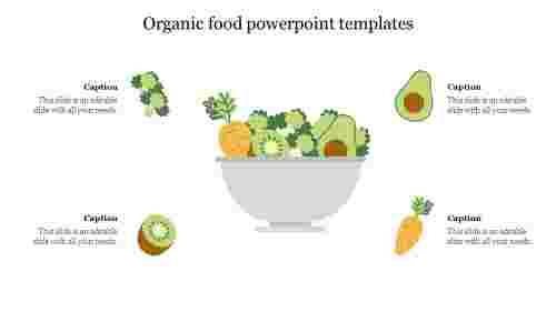 organic%20food%20PowerPoint%20templates%20With%20Four%20Nodes