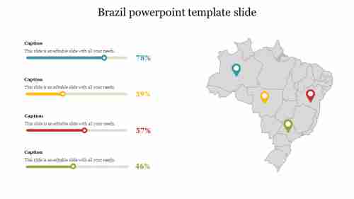 Brazil powerpoint template slide