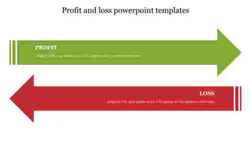 Profit%20and%20loss%20powerpoint%20templates%20with%20arrow%20design