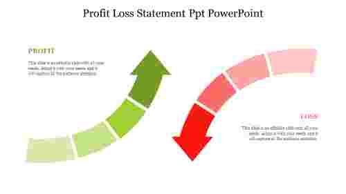 Profit%20Loss%20Statement%20Ppt%20PowerPoint%20with%20arrow%20design