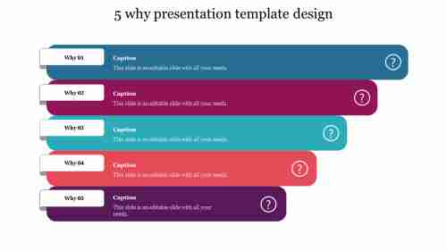 5 why presentation template design
