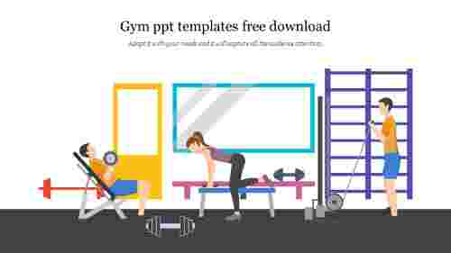 Editable%20Gym%20PPT%20Templates%20Free%20Download%20Instantly