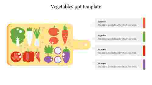 vegetables ppt template