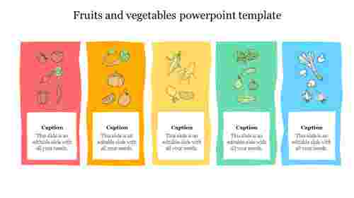 fruits and vegetables powerpoint template