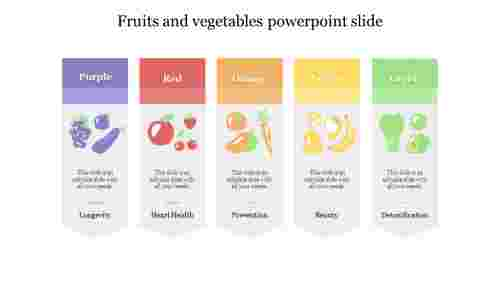 Fruits and vegetables powerpoint slide