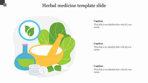 Herbal medicine template slide