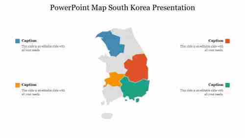 PowerPoint Map South Korea Presentation