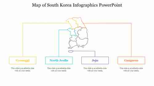 Map of South Korea Infographics PowerPoint