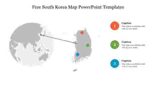 Free South Korea Map PowerPoint Templates