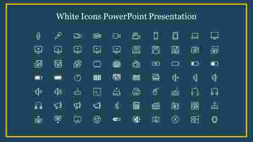 White%20Icons%20PowerPoint%20Presentation%20For%20Electronics