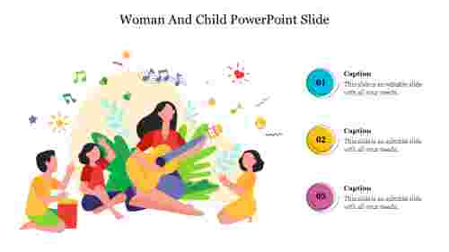 Editable%20Woman%20And%20Child%20PowerPoint%20Slide