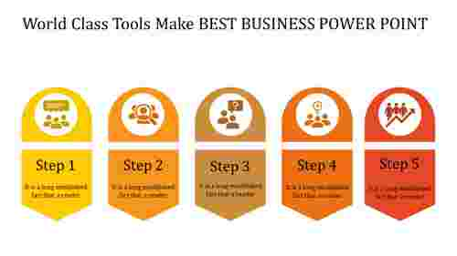 A five noded best business power point