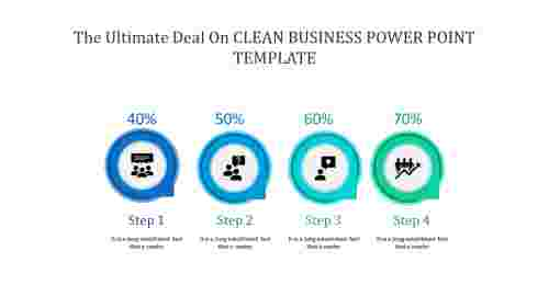 A four noded clean business power point template