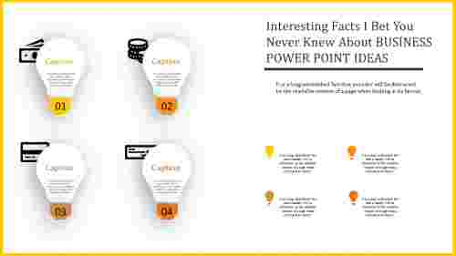 business power point ideas with bulb model