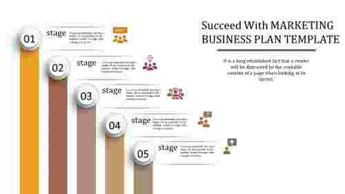 Various Stages For Marketing Business Plan Template