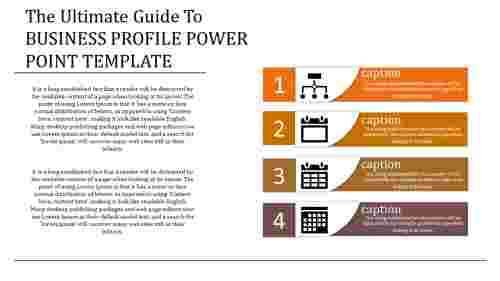 business profile power point template with process