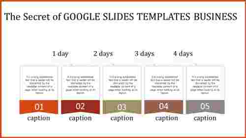 google slides templates business with days