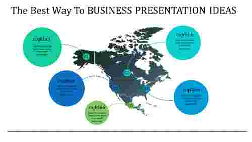 business presentation ideas with map