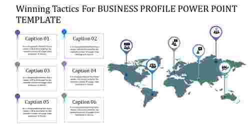 business profile power point template with landmark