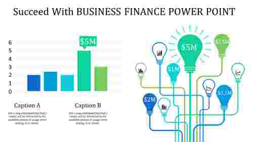 business finance power point with bulb model