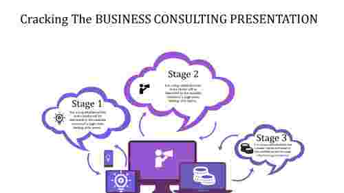 business consulting presentation template - Cloud model
