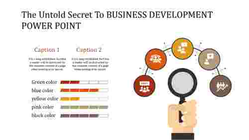 business development power point template for growth
