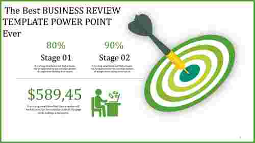 Target business review template power point
