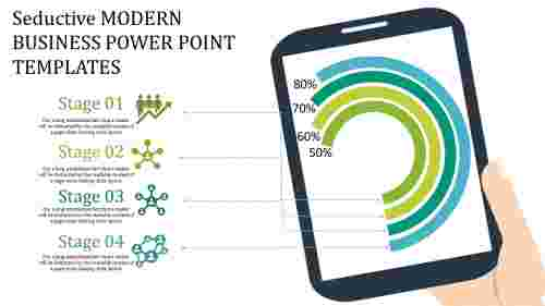 mobile model modern business powerpoint templates