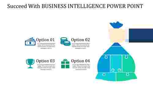 Puzzle model business intelligence power point