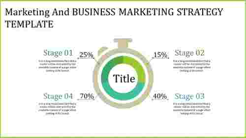 Timer Model Business Marketing Strategy Template
