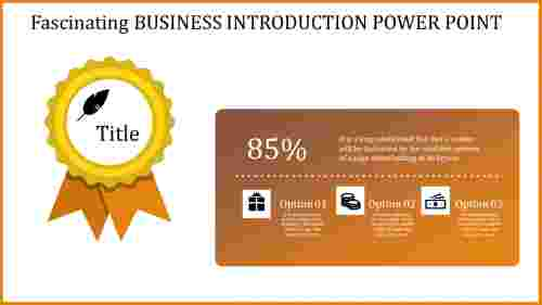 Badge model business introduction powerpoint presentation