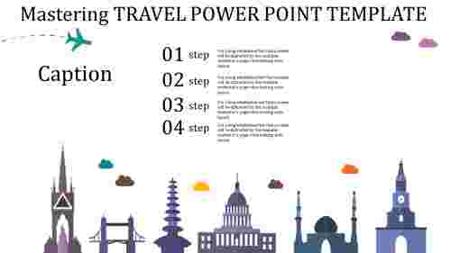 travel power point template with building icons