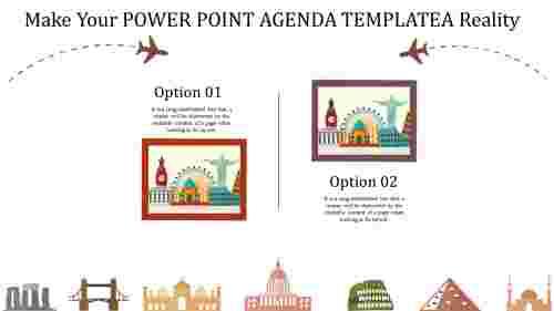 Frame model PowerPoint agenda template
