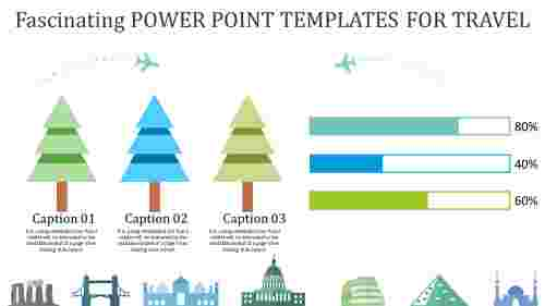 power point templates for travel with colorful trees