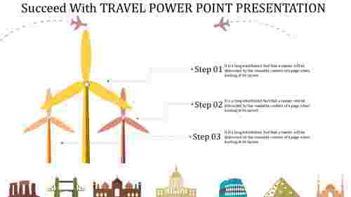 Wind model travel PowerPoint presentation template