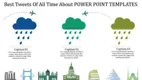 power point templates for travel with clouds
