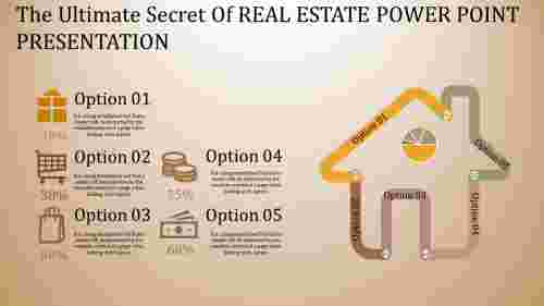 real estate power point presentation - home model