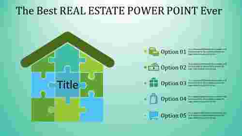 real estate power point - puzzle model