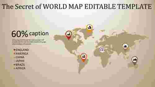 Wonderful Worldmap Editable Template