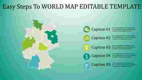 Amazing world map editable template