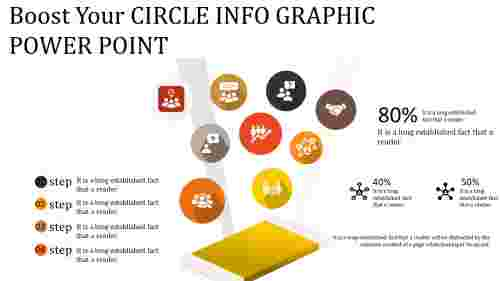 circle info graphic power point with icons
