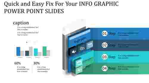 info graphic power point slides - layered rectangle