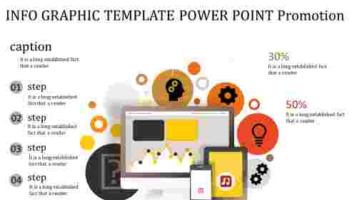 info graphic template power point with icons