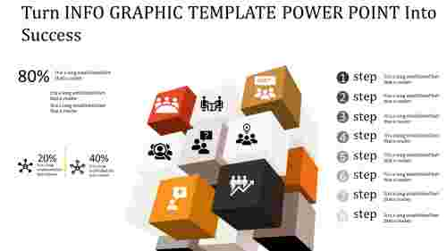3D  info graphic template power point - cubes